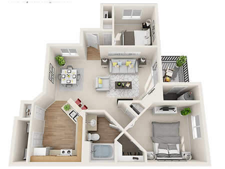 Floorplan for Kallisto at Bear Creek Apartments