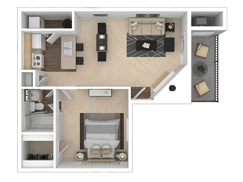 Our Deer Creek is a 1 Bedroom, 1 Bathroom Apartment