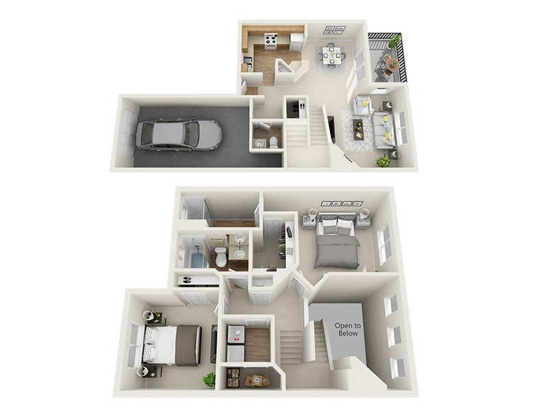 Our Grizzly Creek is a 2 Bedroom, 3 Bathroom Apartment