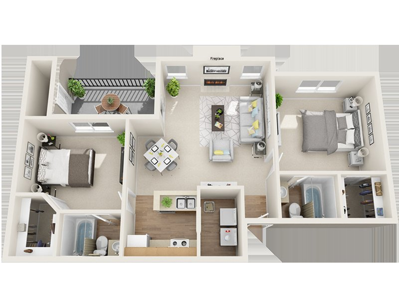 Our Park Creek is a 2 Bedroom, 2 Bathroom Apartment