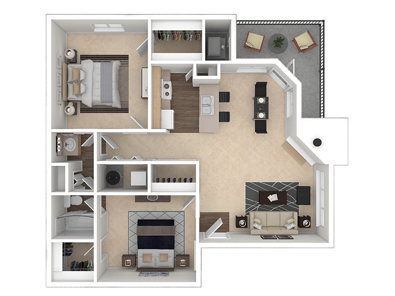 Our Rock Creek is a 2 Bedroom, 1 Bathroom Apartment