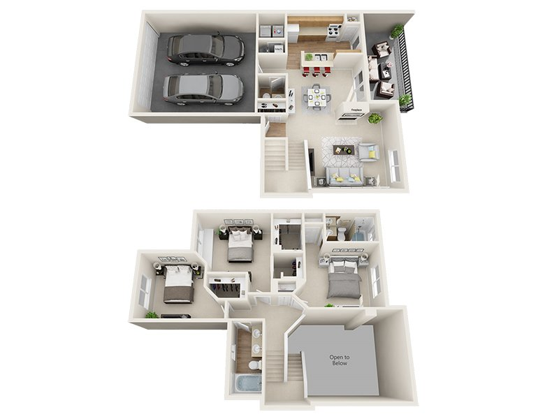 Our Rolling Creek is a 3 Bedroom, 3 Bathroom Apartment
