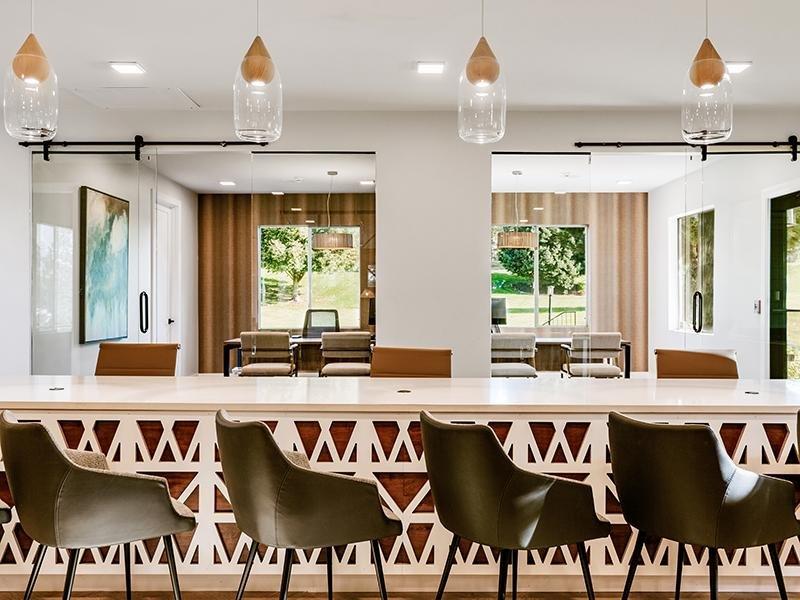Clubhouse Resident Kitchen | Kallisto at Bear Creek Apartments in Lakewood, CO