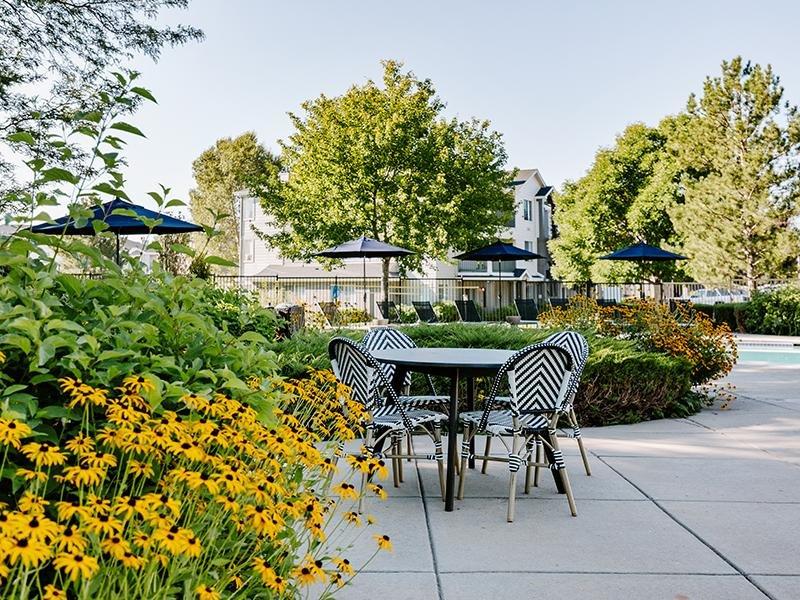 Exterior Patio Area | Kallisto at Bear Creek Lakewood Apartments