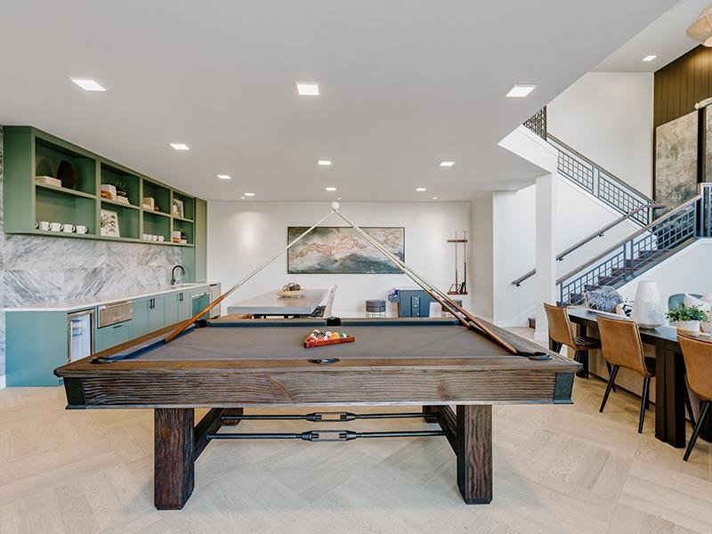 Clubhouse Pool Table | Kallisto at Bear Creek Apartments in Lakewood, CO