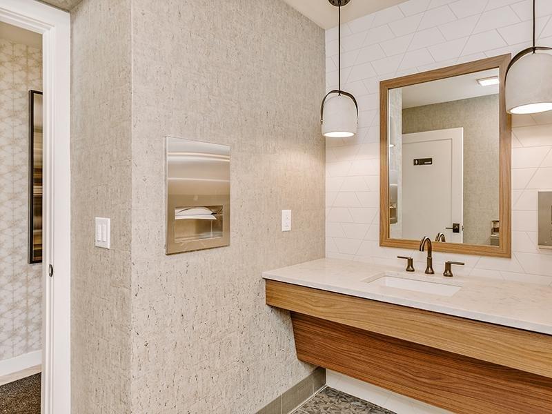 Gym Bathroom | Kallisto at Bear Creek 80227 Apartments