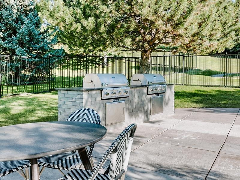 Exterior Grill | Kallisto at Bear Creek Lakewood Apartments