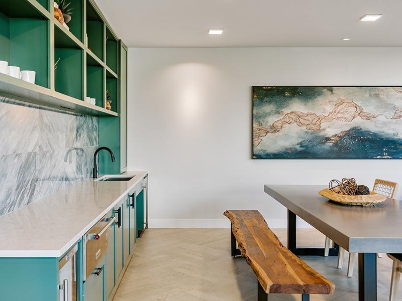 Clubhouse Kitchen | Kallisto at Bear Creek Apartments in Lakewood, CO