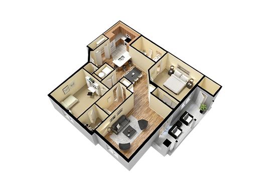 Floorplan for 52nd Marketplace Apartments