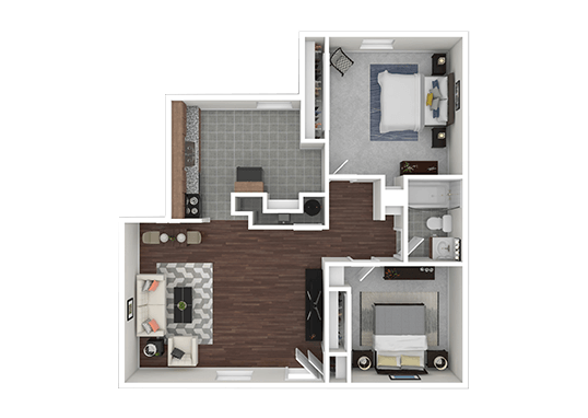 Floorplan for Eagle Crest Apartments