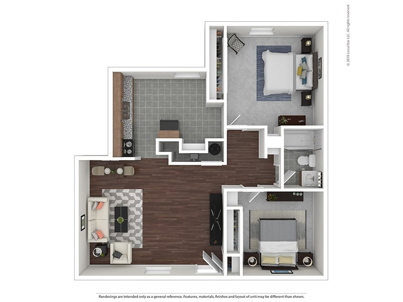 Our 2/1U is a 2 Bedroom, 1 Bathroom Apartment