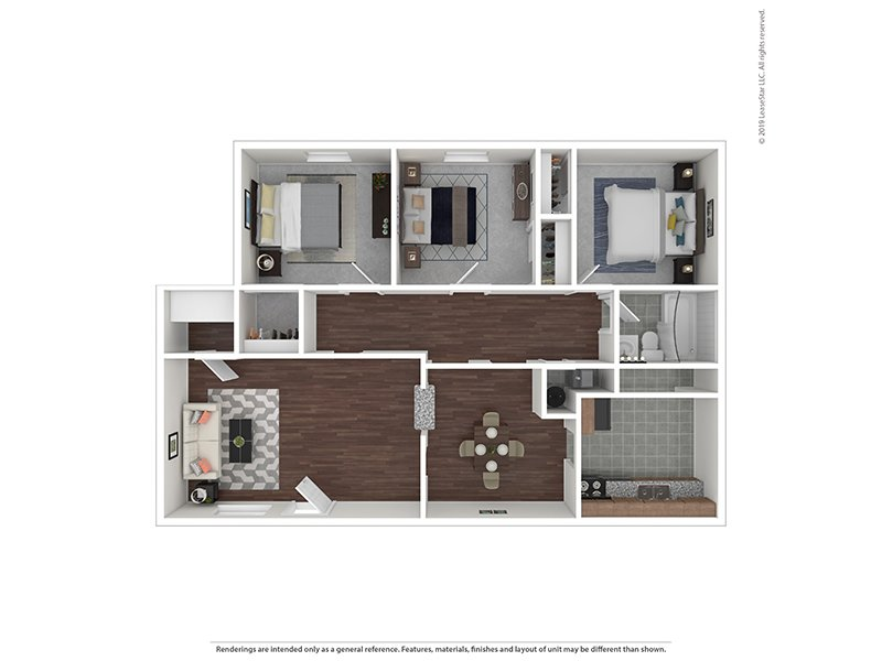 Our 3/1R is a 3 Bedroom, 1 Bathroom Apartment