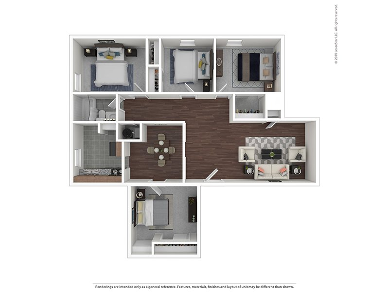Our 4/1R is a 4 Bedroom, 1 Bathroom Apartment