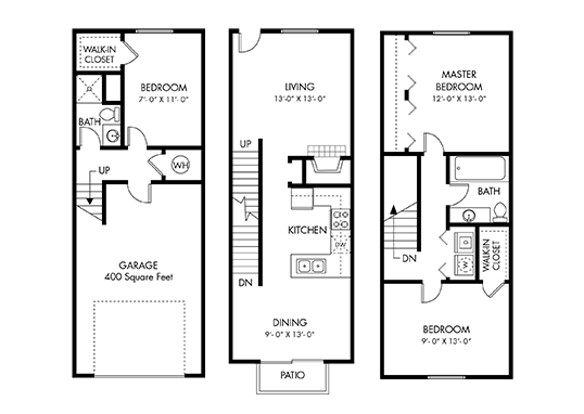 Floorplan for Carefree Village Townhomes Apartments