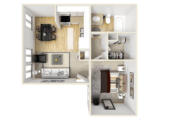 Floorplan for Cheyenne Crossing Apartments