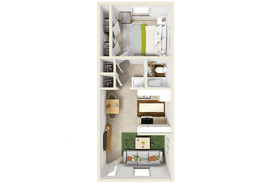 Floorplan for Mountain Vista Apartments