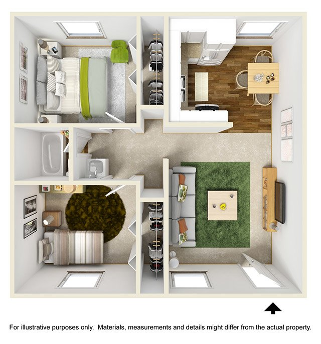 Floor Plans at Mountain Vista Apartments