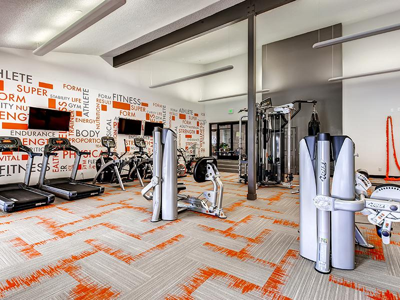 Resident Fitness Center | 3300 Tamarac Apartments in Denver CO