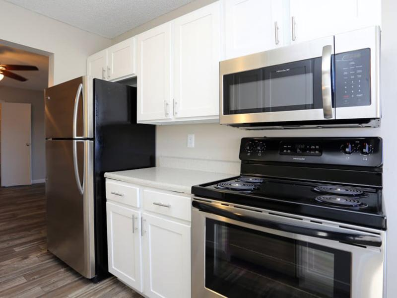 Renovated Kitchen | 3300 Tamarac Apartments For Rent In Denver CO
