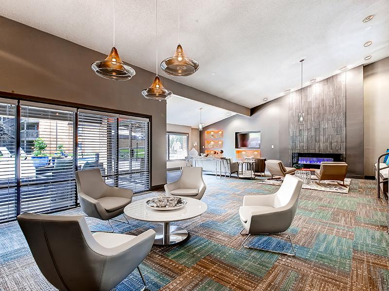 Interior Resident Lounge | 3300 Tamarac Apartments in Denver CO