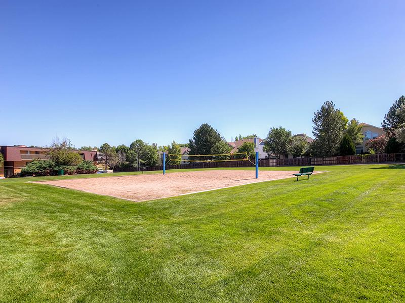Volleyball Court | 3300 Tamarac Apartments Denver, Co