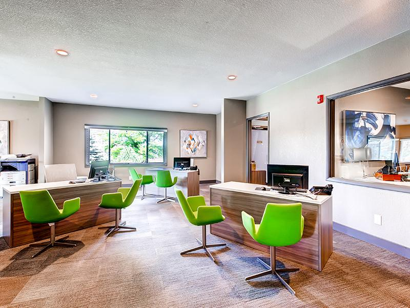 Interior Leasing Office | 3300 Tamarac Apartments in Denver CO
