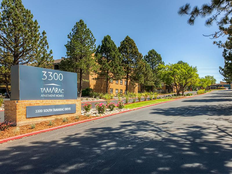 Welcome Sign | Tamarac Village Denver Apartments