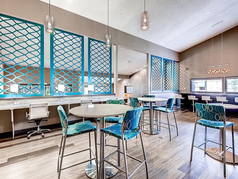 Clubhouse Lounge Interior | 3300 Tamarac Apartments in Denver CO