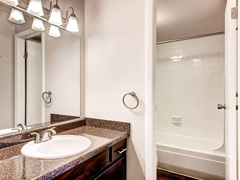 Bathroom | Tamarac Village Apartments Denver Colorado