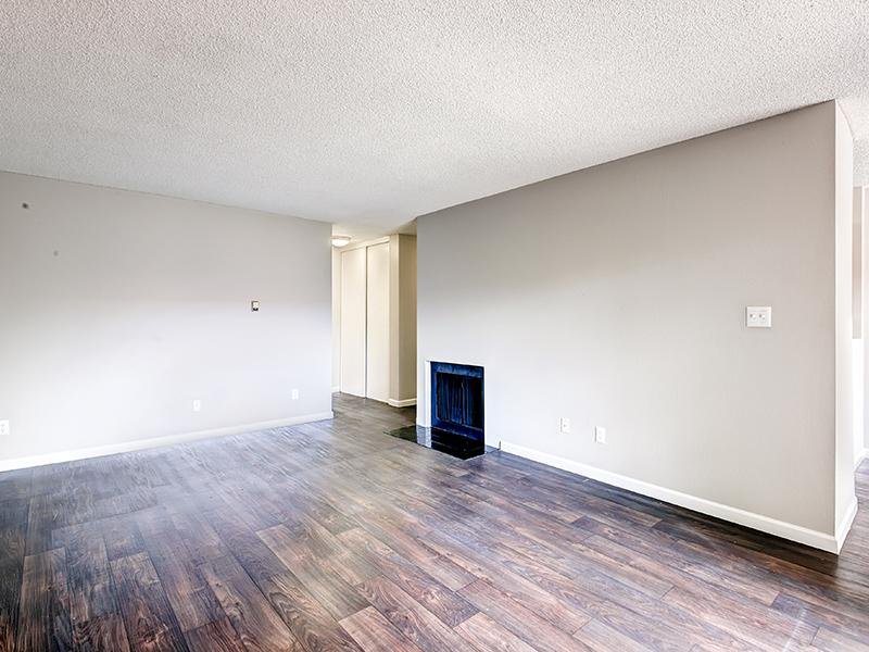 Living Room | Tamarac Village Apartments Denver Colorado
