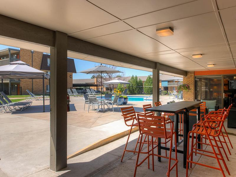 Outdoor Patio |  3300 Tamarac Denver Apartments