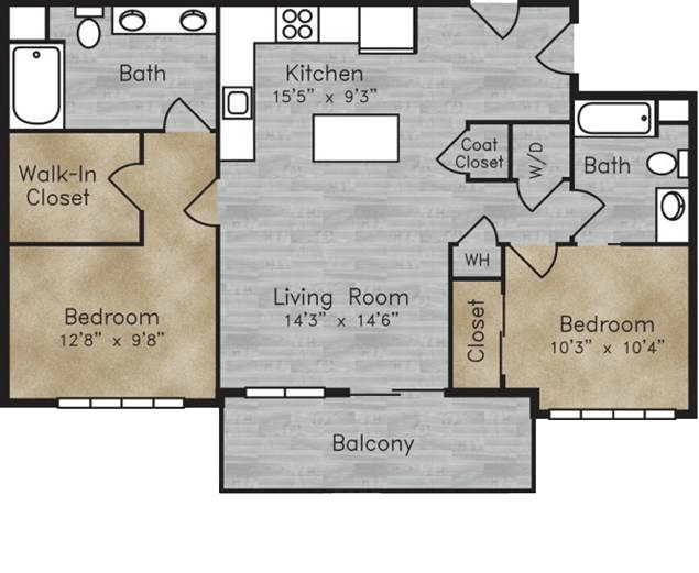 Floorplan for Boulder View Apartments