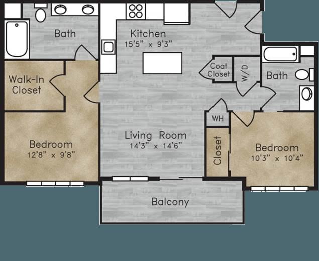Floorplan for Boulder View Apartments