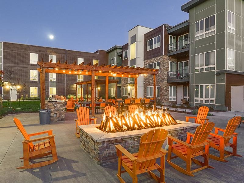 Fire Pit | Boulder View Apartments| Colorado