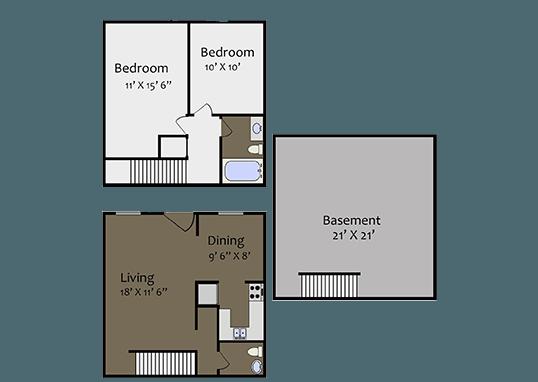 Floorplan for Sunset Ridge Apartments