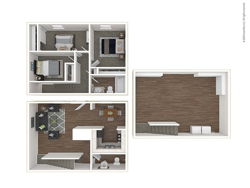 Floor Plans at Sunset Ridge Apartments