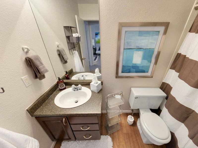 Bathroom | Sunset Ridge Apartments