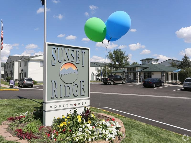 Welcome Sign  | Sunset Ridge Apartments
