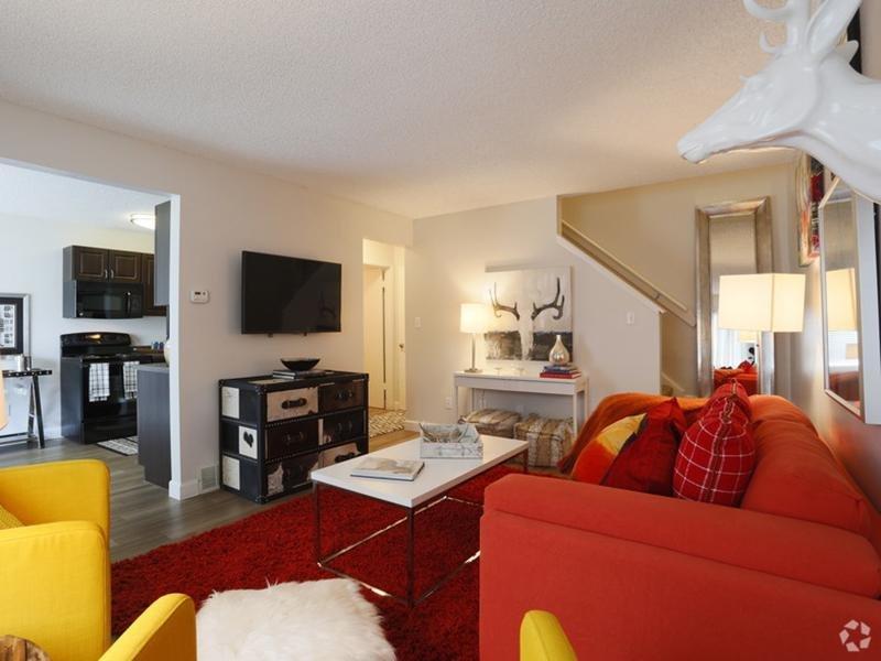 Living Room   Sunset Ridge Apartments