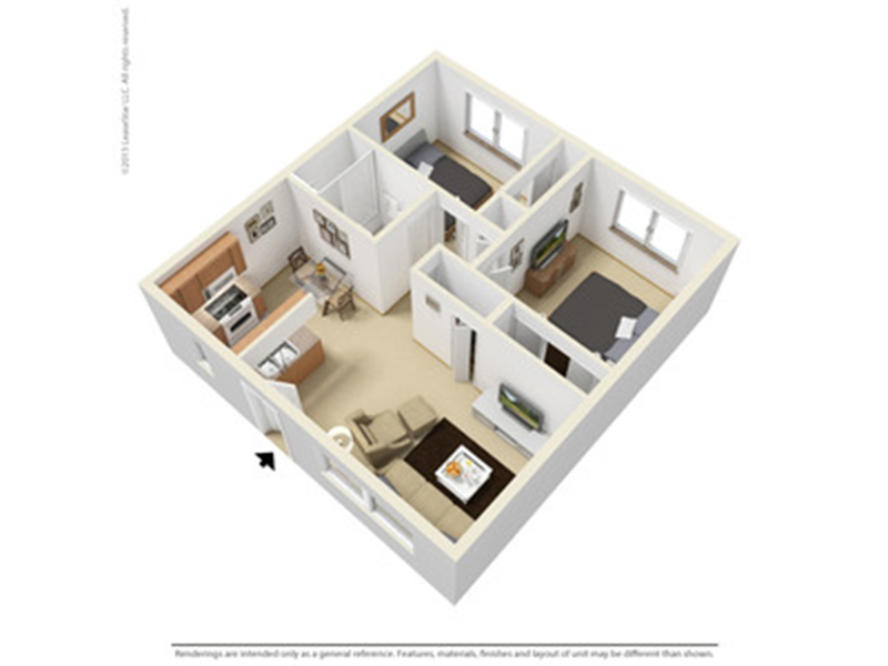 Our 2x1R is a 2 Bedroom, 1 Bathroom Apartment