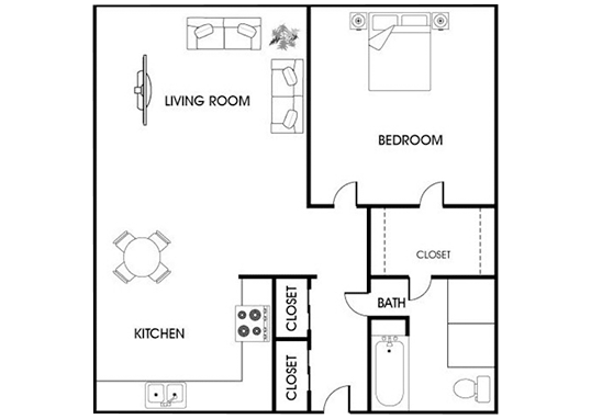 Floorplan for Asbury Plaza Apartments
