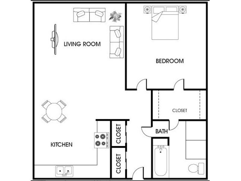 Floor Plans at Asbury Plaza Apartments