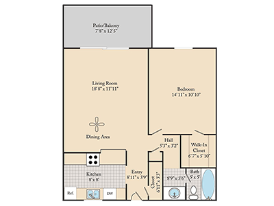 Floorplan for Cedar Run Apartments