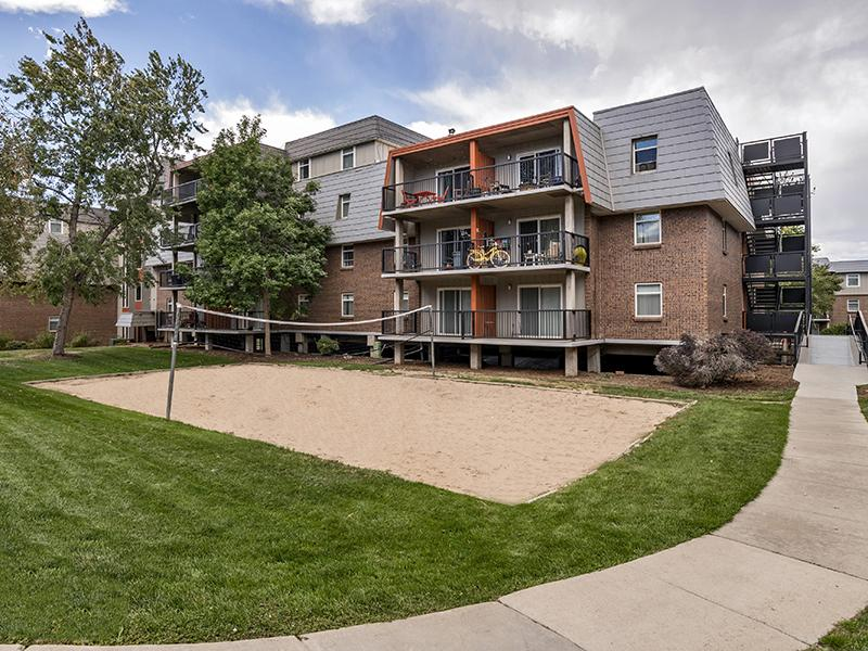 Community Volleyball Court | Cedar Run Apartments