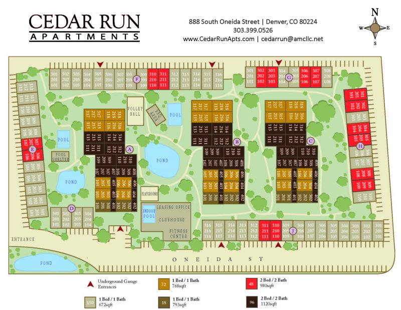 Site Map | Cedar Run Apartments