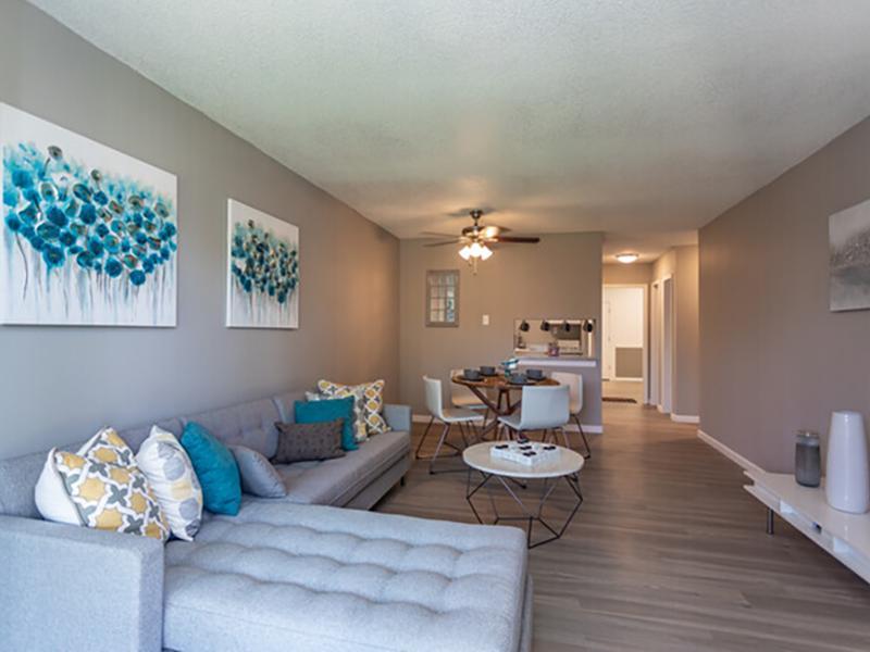 Model Living Room   Cedar Run