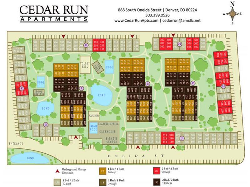 Site Map   Cedar Run Apartments