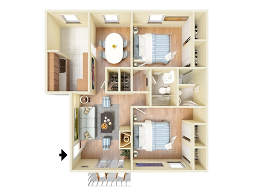 Floorplan for Forest Cove Apartments