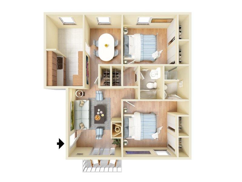 Our 2bd 2ba V is a 2 Bedroom, 2 Bathroom Apartment