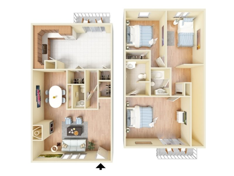 Floor Plans at Forest Cove Apartments